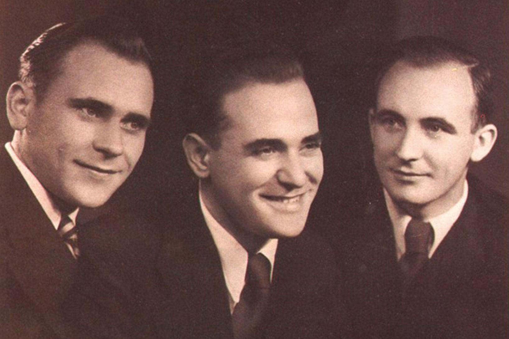 Alois, Hans und Heinz Pöttinger 1956